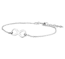 Zilveren dames Armband Infinity