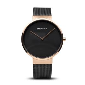Bering horloge classic polished roségold black 14539-166