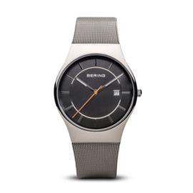Bering horloge classic polished zilver grijs 11938-007