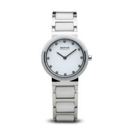 Bering horloge ceramic Wit zilver  10729-754