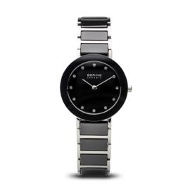 Bering horloge ceramic Zwart zilver 11429-742
