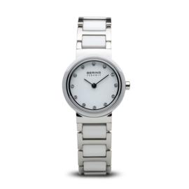 Bering horloge ceramic Wit Zilver 10725-754