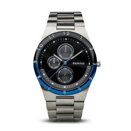Bering horloge brushed zilver blauw  32339-702