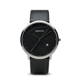 Bering horloge classic brushed zwart zilver 11139-402