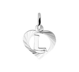 Zilveren hanger Letter L