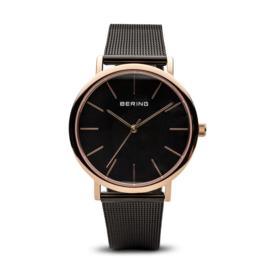 Bering horloge classic polished roségold black 13436-166