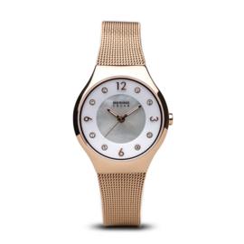 Bering horloge solar Roségoud wit 14427-366