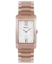 Prisma Dames horloge Precise Zirconia Roségoud P.1958