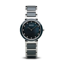 Bering horloge ceramic Blauw zilver 10725-787