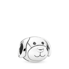 Zilveren bedel hond