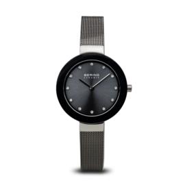 Bering horloge ceramic Zilver Grijs 11429-389