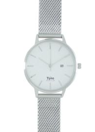 Tyno dames horloge zilver wit 101-001 Milanees