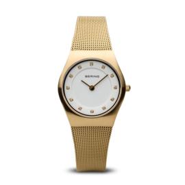 Bering horloge brushed goud 11927-334