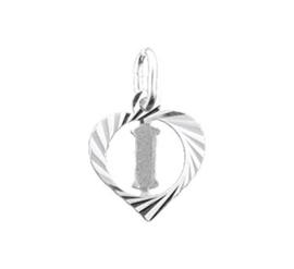 Zilveren hanger Letter I