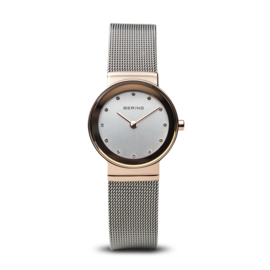 Bering horloge classic polished roségoud zilver 10126-066