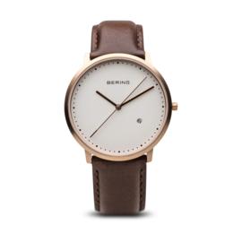 Bering horloge classic brushed rosé gold white 11139-564