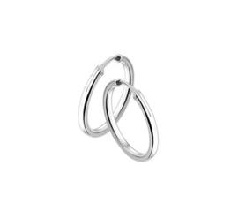 Zilveren Creool / ring vierkant 2mm 14 tot 54mm