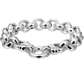 Jasseron armband massief zilver 11mm