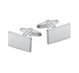 Gerhodineerd zilveren manchetknopen  mat