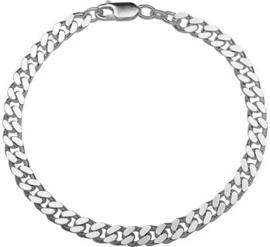 Zilveren heren armband gourmet 5,5 mm