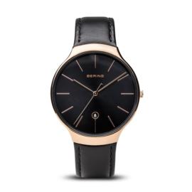 Bering horloge classic polished roségold/black 13338-462