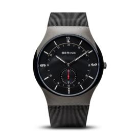 Bering horloge classic brushed zwart rood 11940-222