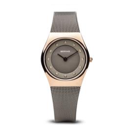 Bering horloge classic polished rosé goud grijs 11927-369