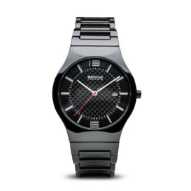 Bering horloge ceramic Zwart rood 31739-749