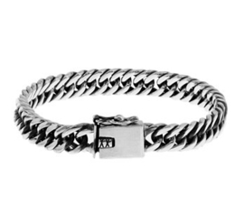 Massief zilveren armband gourmet 8mm