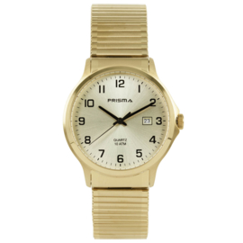 Prisma Heren horloge All stainless steel rekband Goud P.1703