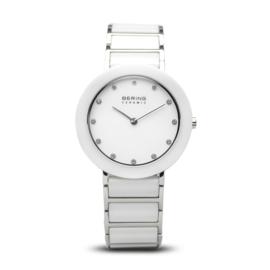 Bering horloge ceramic Zilver Wit 11435-754