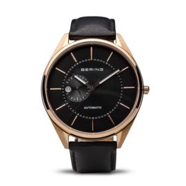 Bering horloge automatic rosé goud zwart 16243-462