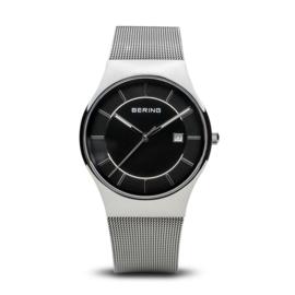 Bering horloge classic polished zilver zwart  11938-002
