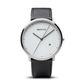 Bering horloge classic brushed zwart zilver 11139-404