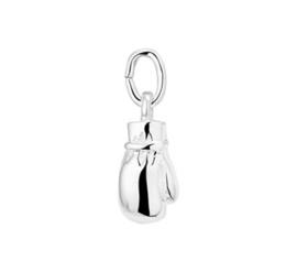 Zilveren Bokshandschoen hanger