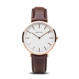 Bering horloge Classic polished white rosé gold 13738-564