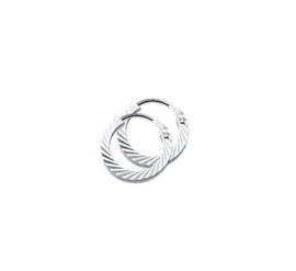 Zilveren Creool / oorring 2 mm bewerkt 14 tot 23mm