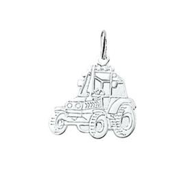 Zilveren hanger Trekker/Tractor