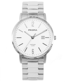Prisma Heren Horloge Slimline MR. Staal Wit  P.1470
