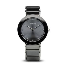 Bering horloge ceramic Grijs Zilver 11435-783