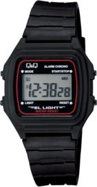 Q&Q digitaal horloge zwart rood L116J001Y
