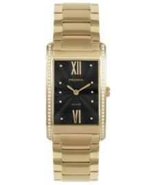 Prisma Dames Horloge Precise Zirconia Goud P.1957