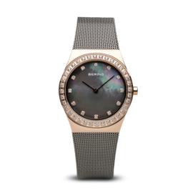 Bering horloge classic polished rosé goud grijs 12430-369