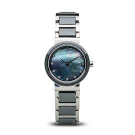 Bering horloge ceramic Blauw zilver 10725-789