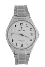 Ottimo heren horloge zilver wit  OT-WPA083