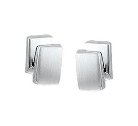 Zilveren oorbellen Mat en glans