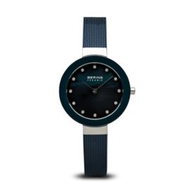 Bering horloge ceramic Blauw zilver 11429-387