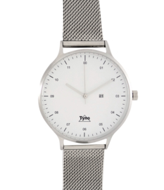 Tyno classic zilver wit 201-001 Mesh