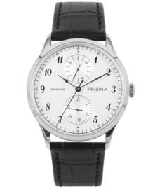 Prisma Heren horloge Traveller vigorous zilver  P.1900