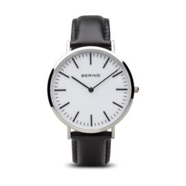 Bering horloge classic polished zilver wit 13738-404